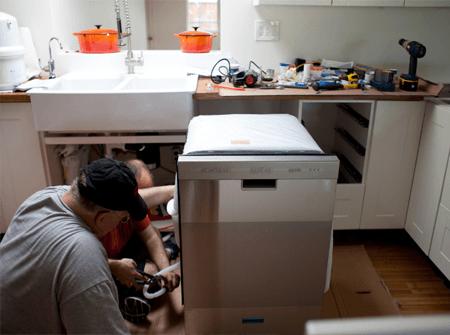 Установка посудомоечной машины цена СПб