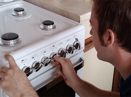 Ремонт бытовых газовых плит на дому