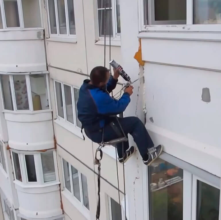 Герметизация швов методом промышленного альпинизма в СПб