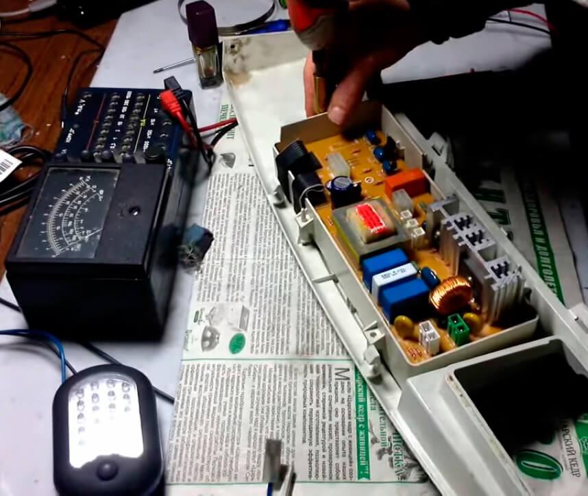 Ремонт модулей управления стиральных машин в СПб