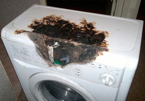 Возгорание стиральной машины