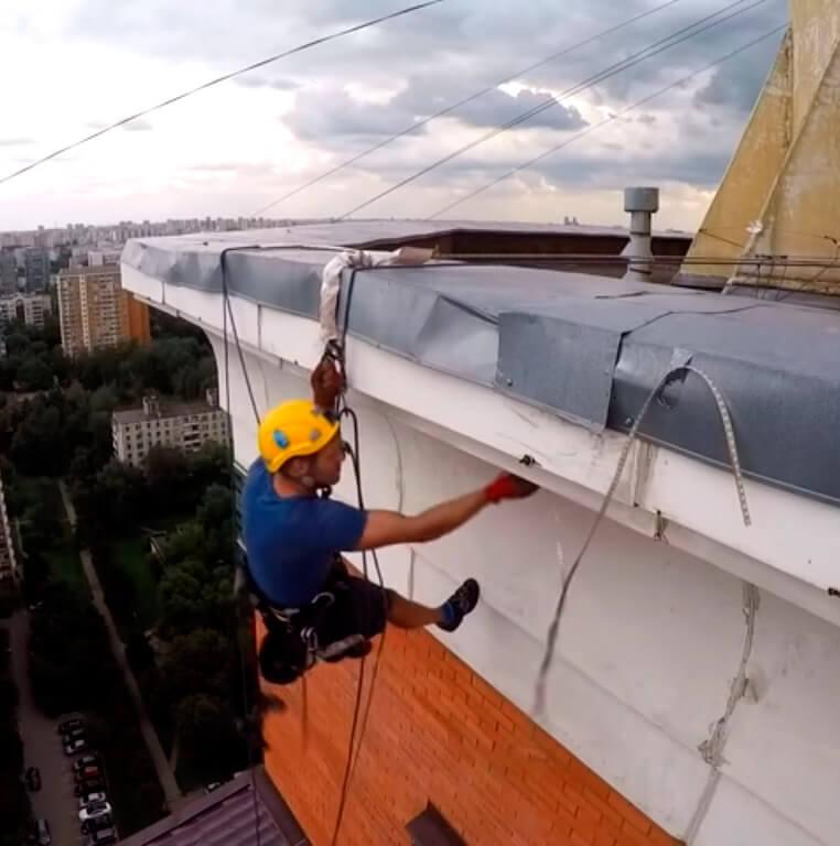 Электромонтажные работы методом промышленного альпинизма в СПб