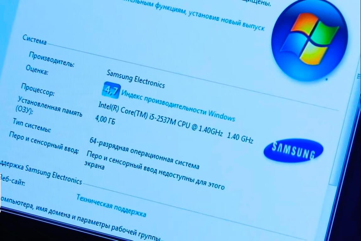Установить Windows на ноутбук Samsung в СПб