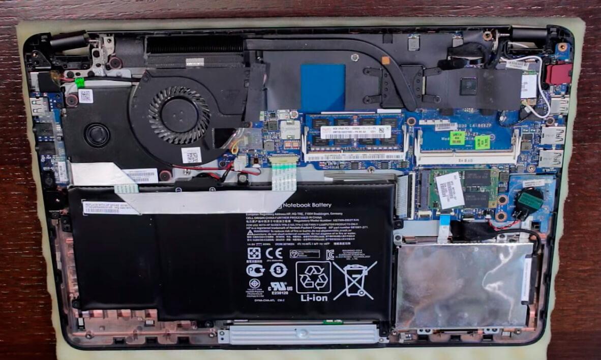 Чистка ноутбука Asus от пыли в СПб