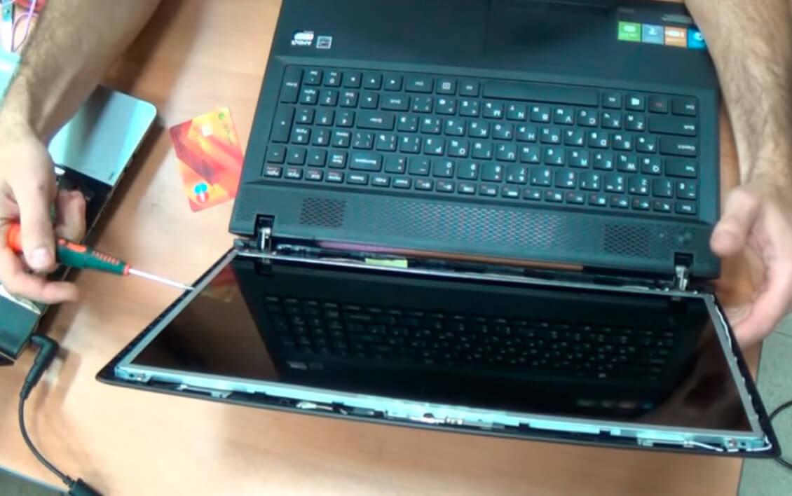 Замена матрицы на ноутбуке Lenovo в СПб