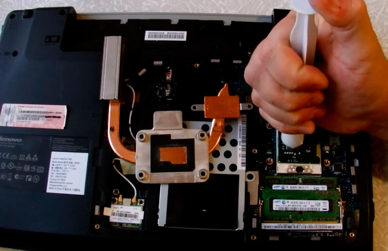 Замена термопасты на ноутбуке Lenovo в СПб