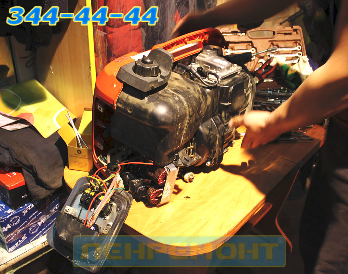 Ремонт бензогенератора Honda