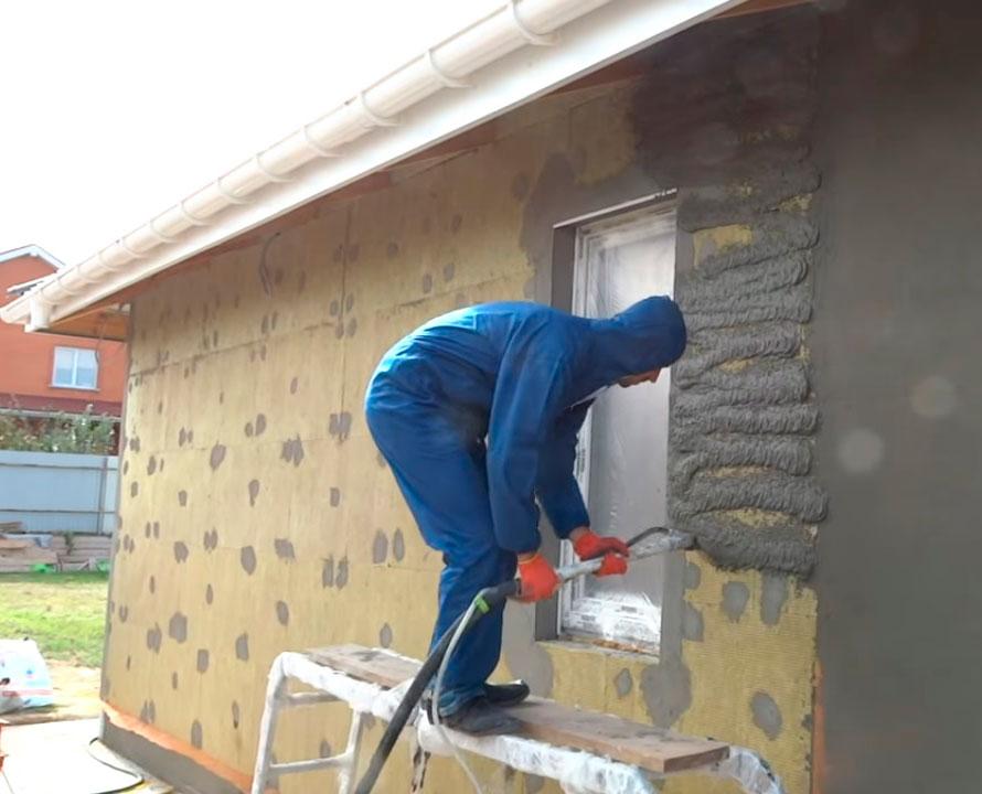 Утепление стен штукатуркой