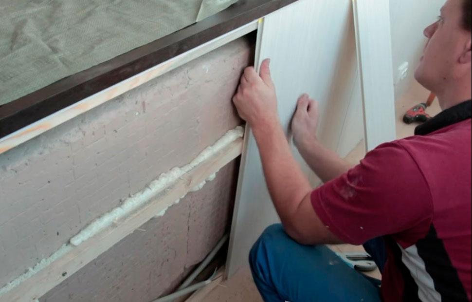 Балкон пластиковыми панелями своими руками 932
