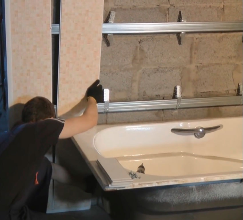 Как обшить пластиковыми панелями ванную своими руками