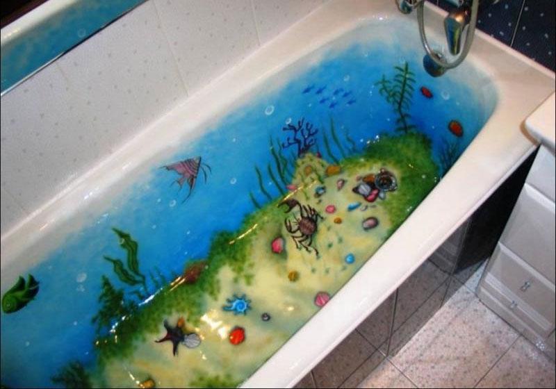 Аэрография ванной