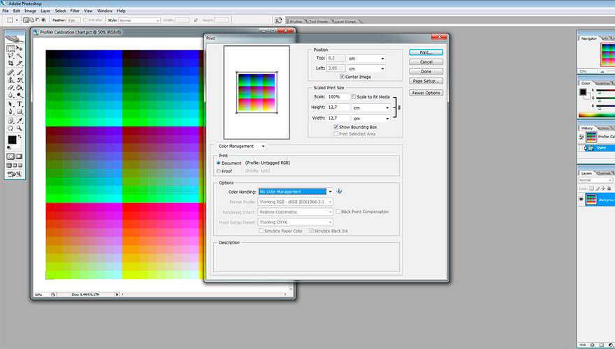 Настройка цветового профиля принтера — Стоимость в Санкт-Петербурге