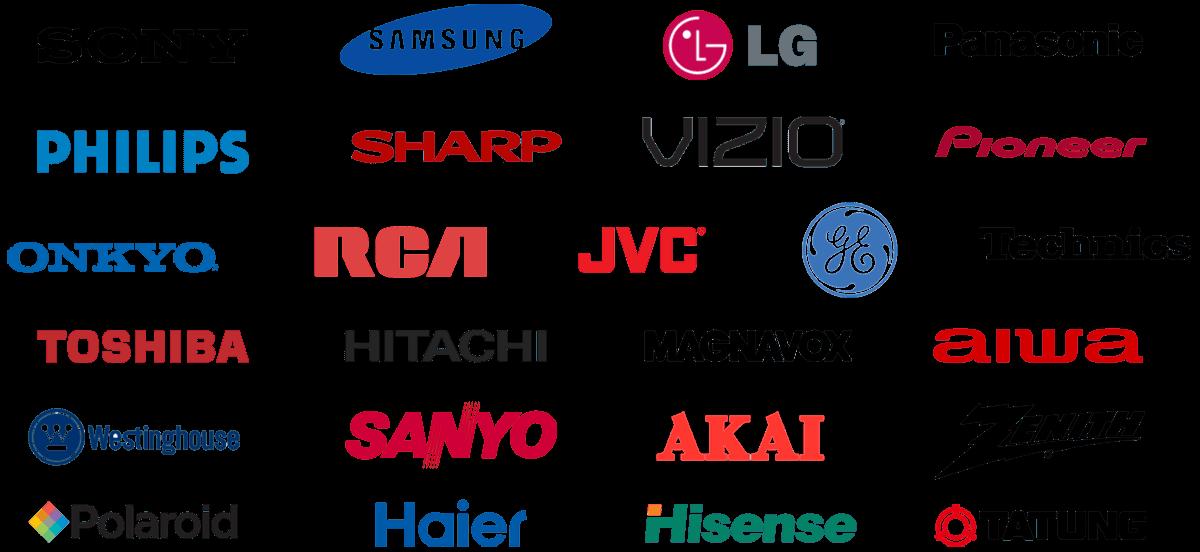Ремонт разных брендов телевизоров