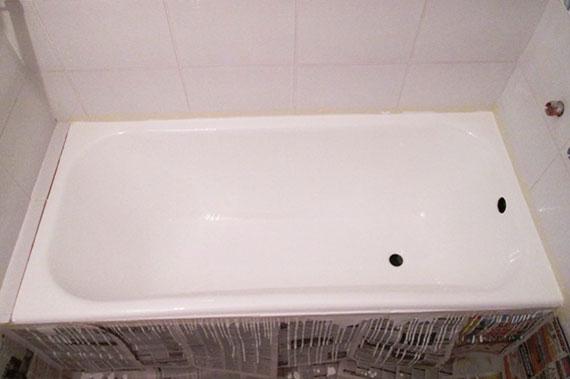 Ремонт старой ванны - результат